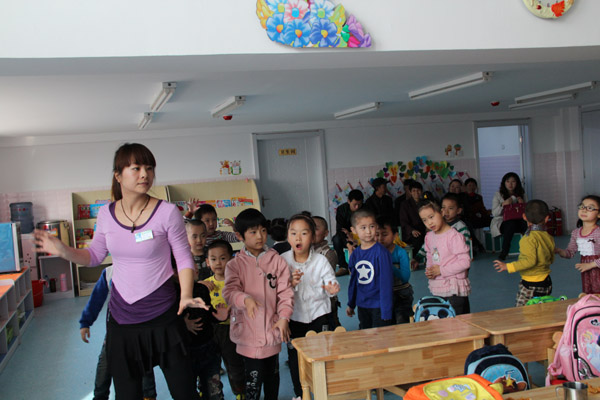 中心幼儿园家长开放日-儿童作品-建三江学前教育
