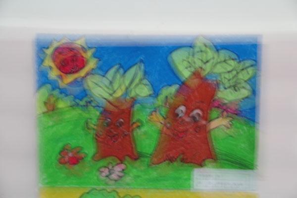 中心幼儿园献给母亲节书画展2