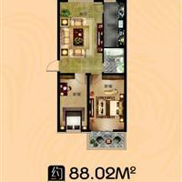 2室1厅1卫  88.02平米
