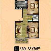 2室1厅1卫  96.97平米