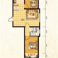 2室1厅1卫 84.31平米