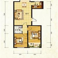 2室1厅1卫 91.51平米