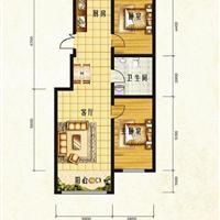 2室1厅1卫 107.98平米