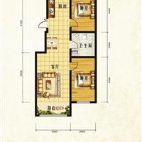 2室1厅1卫 103.61平米