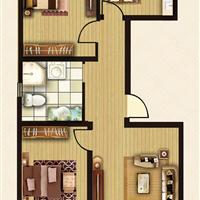 2室1厅1卫  104.82平米