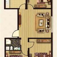 2室1厅1卫  119.25平米