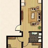 2室1厅1卫  83.35平米
