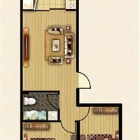2室1厅1卫  77.97平米